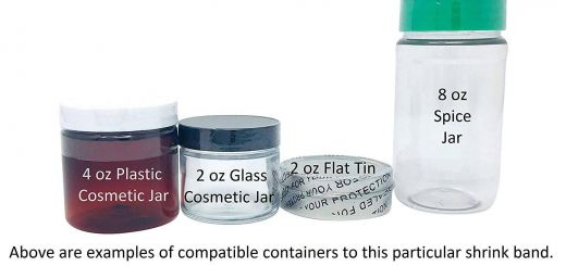 "Cosmetic Storage Jars Luxury 110 X 28 Mm Clear Printed Black Perforated Shrink Band for Cosmetic Jars Plastic Jars and More [ Patible Diameter Range 2 1 4"" – 2 1 2""]"