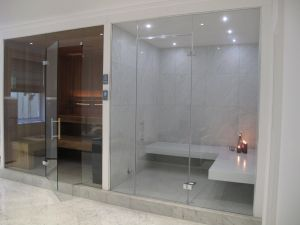 Create A Spa at Home Inspirational This Stylish Steam Room Has White Corian Benches and Large