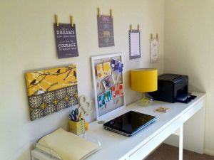 Creative Cubicle Awesome My Yellow & Grey Workspace Makeover Office Craftroom