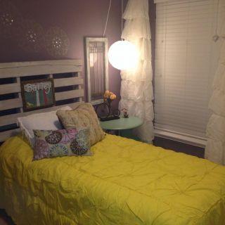 Decoist Bunk Beds Fresh Girls Room with Pallet Headboard Home by Miranda