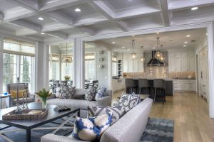 Decorating Rooms with High Ceilings Beautiful Great Room Kitchen Coffered Ceiling Pohlig Philadelphia Main