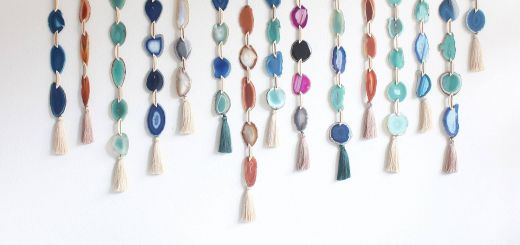 Decoration Of Wall Hanging Lovely Agate Tassel Hanging Agate Tassel Boho Wall Decor Boho Decor