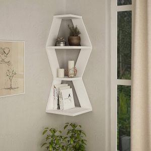 Decorative Bathroom Wall Shelves Best Of Amazon White Corner Wall Shelf Industrial Wall Mounted
