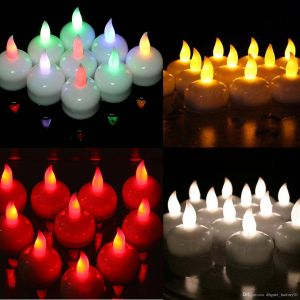 Decorative Candles for Sale Beautiful Floating Candle Lamp Led Waterproof Flickering Flameless Electronic Candle Tea Light Wedding Christmas Birthday Decoration Candle Votive Candle