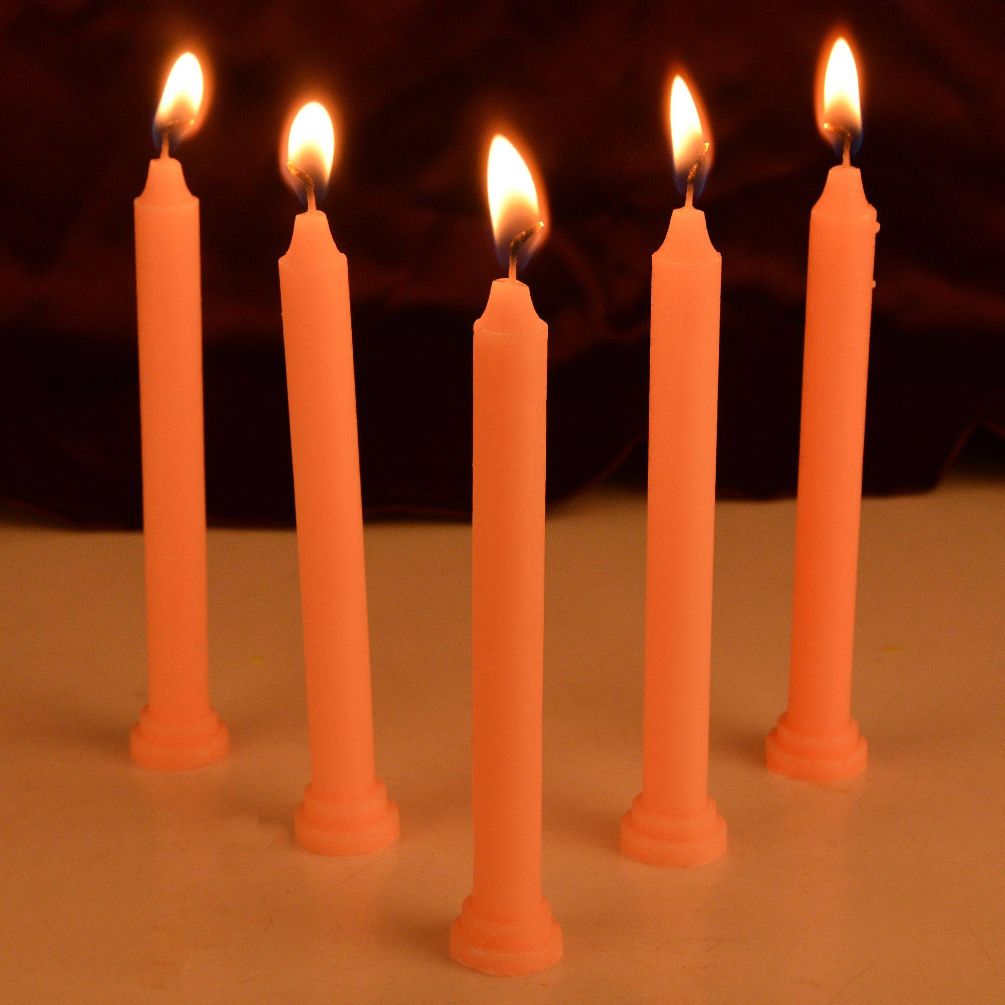 Rajrang Orange Pillar Candle Pack SDL 1 c8646