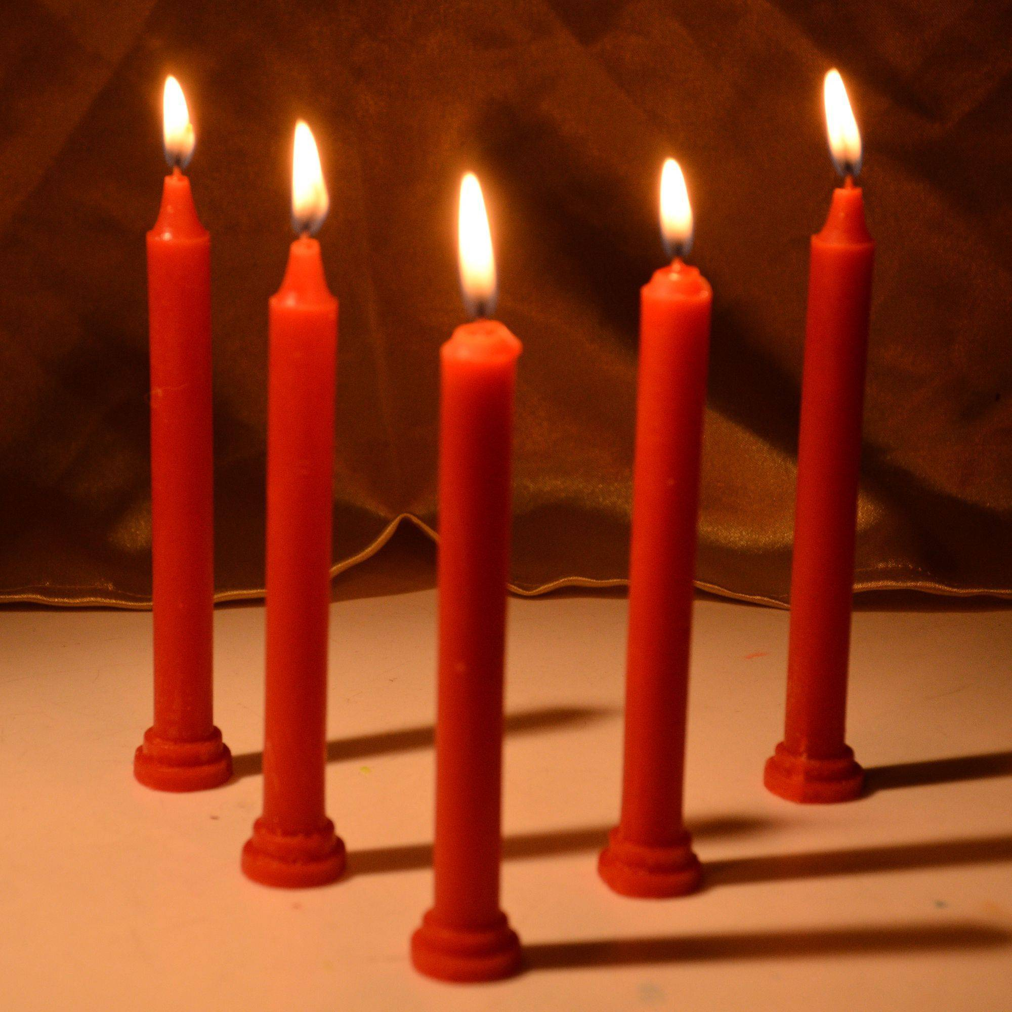 Rajrang Red Tapered Candle Pack SDL 1 ff15c