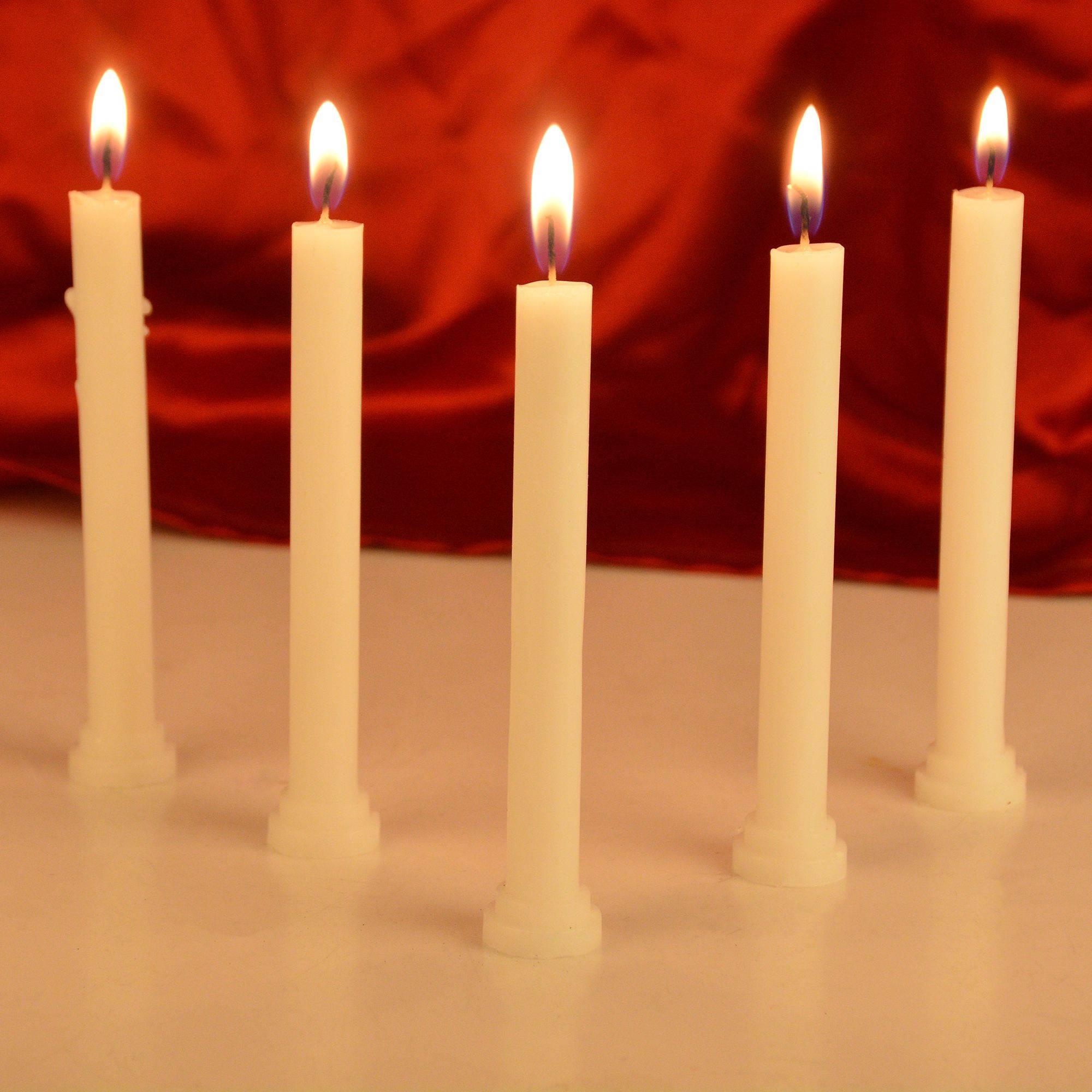 Rajrang White Pillar Candle Pack SDL 1 303cd
