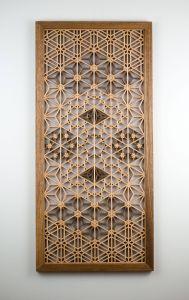 Decorative Glass Wall Panels Inspirational A Handmade Kumiko Wall Panel In Basswood and Ovangkol Wood