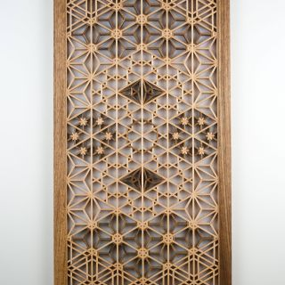Decorative Glass Wall Panels Inspirational A Handmade Kumiko Wall Panel In Basswood and Ovangkol Wood