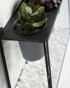 Decorative Glass Wall Panels Luxury Wall Planter Glass Emerald 3 Pots