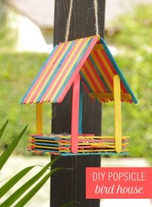 Decorative Outdoor Bird Houses Inspirational Turn Popsicles Into An Adorable Bird House