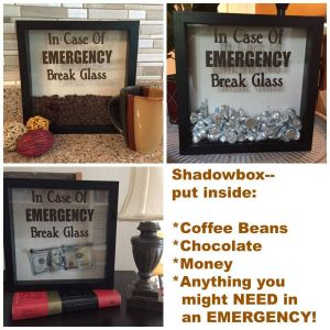 Decorative Shadow Box Frame Fresh Decal Only for Diy Shadow Box In Case Emergency Break