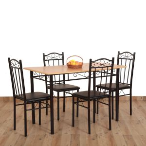 Dining Table Ideas Awesome Eros 4 Seater Metal Plus Wooden Dining Table Buy Eros 4 Seater Metal Plus Wooden Dining Table Line at Best Prices In India On Snapdeal
