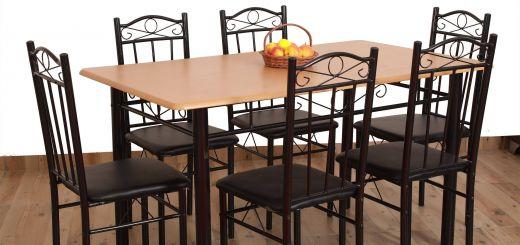Dining Table Ideas Elegant Eros 6 Seater Metal Plus Wooden Dining Set Dining Furniture Set Dining Table Buy Eros 6 Seater Metal Plus Wooden Dining Set Dining Furniture