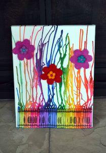 Diy Art Ideas Lovely Melted Cayron Art Diy & Crafts