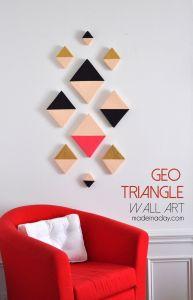 Diy Art Ideas Lovely Modern Triangle Geo Wall Art Diy Wall Art
