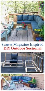 Diy Patio Fresh Sunset Magazine Inspired Diy Outdoor Sectional L Shaped