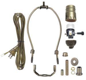 Diy Pendant Light Kit Lovely B&p Lamp Antique Brass Finish Table Lamp Wiring Kit with 9 Inch Harp 3 Way socket