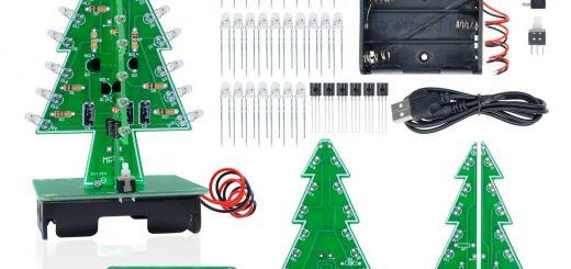 Diy Pendant Light Kit New Aideepen 3d Christmas Tree Led Flashing Light Diy Kit 7 Colors Led Flash Circuit Kit without Batteries