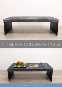 Diy Projects Awesome Homemade Modern Ep135 Diy Black Concrete Table
