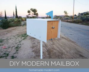 Diy Projects Lovely Homemade Modern Ep135 Diy Modern Mailbox