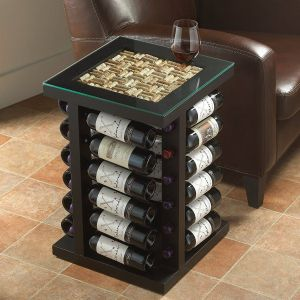 Diy Wine Rack Awesome Wine Rack End Table with Cork Kit top Wine Enthusiast