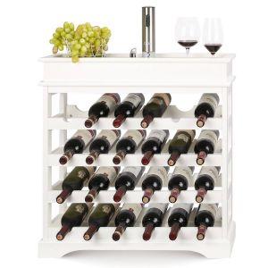 Diy Wine Rack Fresh Homfa Wine Rack 24 Bottles Holder Wooden Wine Cabinet Display Shelves White 70 22 5 70cm