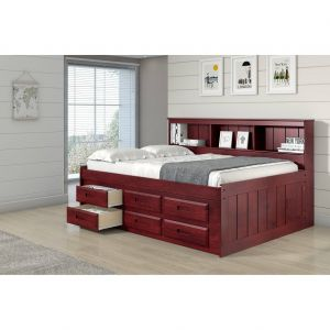 Double Day Bed Unique Full Bookcase Captains Daybed with Six Storage Drawers In
