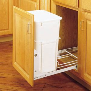 Double Garbage Can Pull Out Beautiful Rev A Shelf Single Pull Out 3 4 Extension Slides 35 Qt