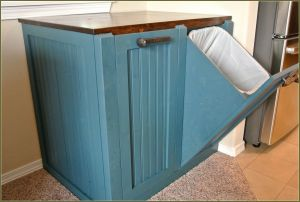 Double Garbage Can Pull Out Fresh Primitive Trash Can Holder