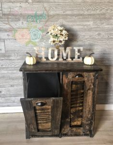 Double Garbage Can Pull Out Unique Double Tilt Rustic Trash Bin Holder Custom Made Barn Wood