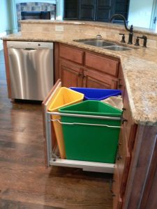 Double Garbage Can Pull Out Unique Kitchen Recycling System for the Home