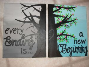 Easy Canvas Painting Ideas Beautiful Canvas Painting Maybe Make Left Side Autumn with Leaves