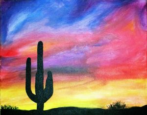 """Easy Canvas Painting Ideas Fresh Arizona Sunset"""" by ashley Sears In 2019"""