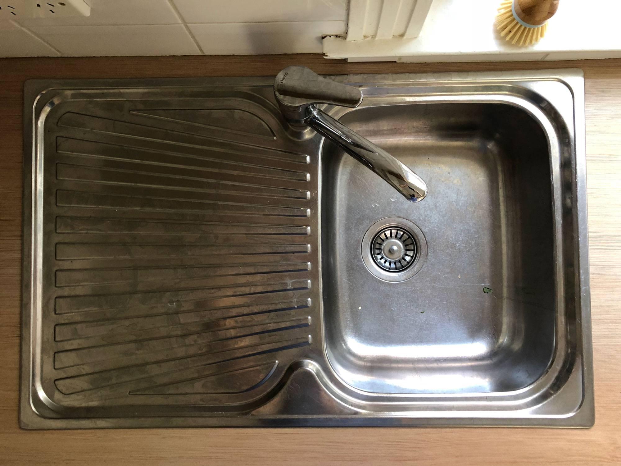 Koala Eco kitchen sink clean before