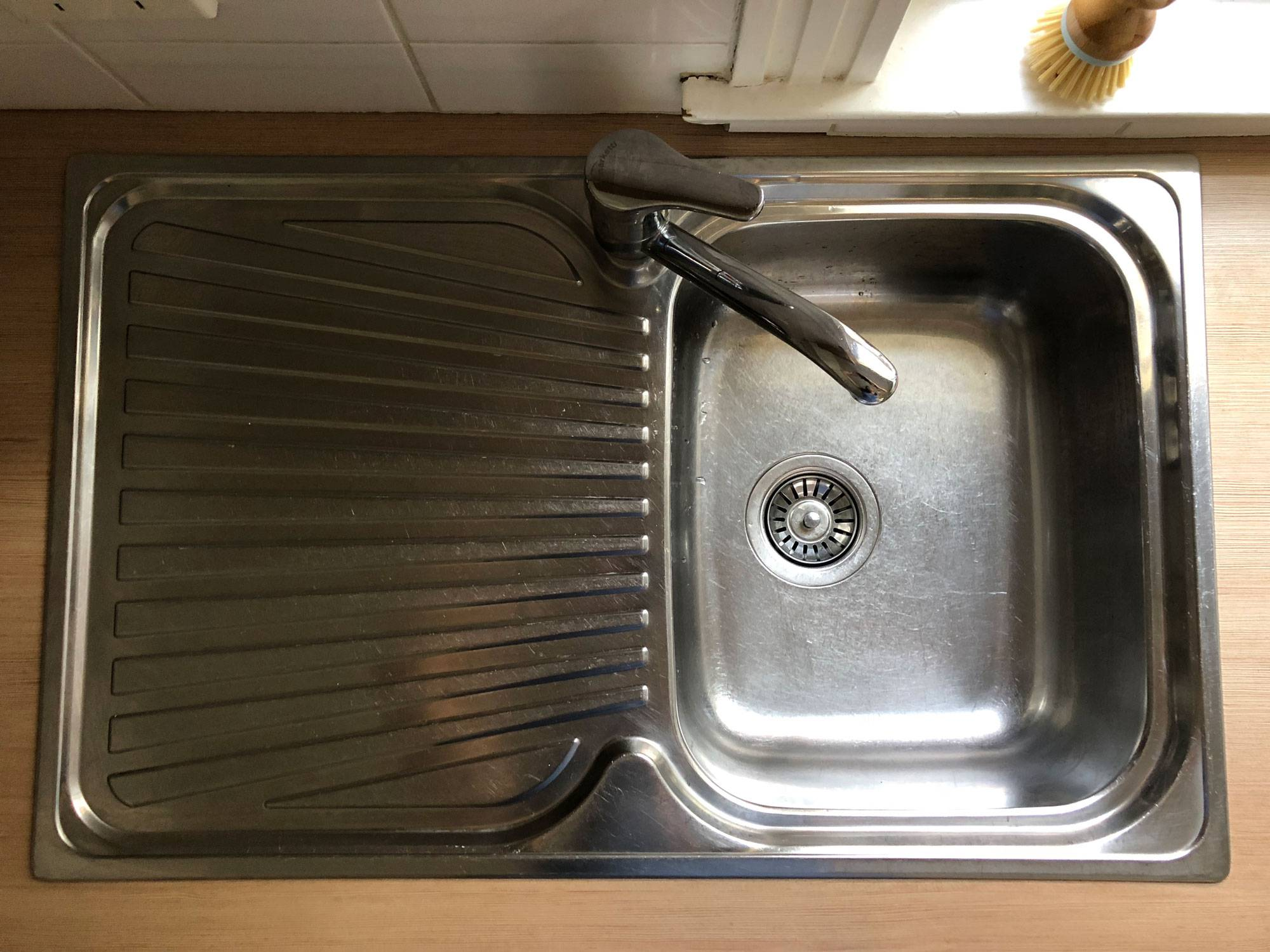 Koala Eco kitchen sink clean after
