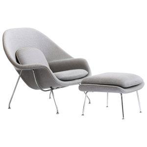 Eero Saarinen Womb Lovely Eero Saarinen Womb Chair and Ottoman at 1stdibs