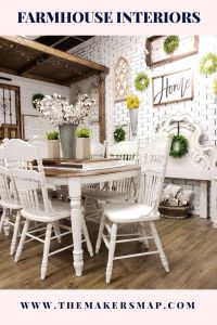 Farmhouse Interiors Awesome Farmhouse Dining Room Painted Dining Table Stained top