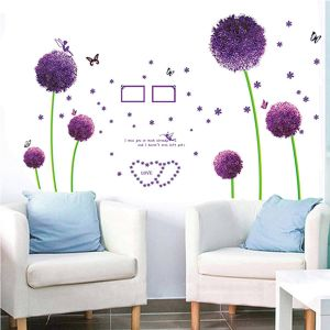 Flash Sale Home Decor Awesome Cutewalldesigns 3d Love Family Tree Pvc Vinyl Wall Stickers with Frames for Home Decor Purple 126x96cm