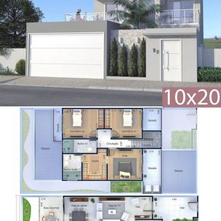 Free Modern House Plans Beautiful Home Design Plan 10x20 Meters