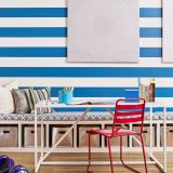 Fun Rooms for Kids Fresh Such A Fun Kids Space with Blue and White Striped Wallpaper