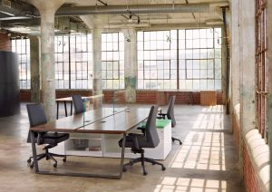 Furniture for Office Space Beautiful Plank Match Veneer Open Office Set Up From Darran Furniture