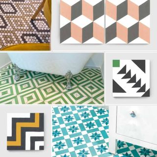 Geometric Tile Awesome Encaustic Cement Tiles with Geometric Cubic or Circular