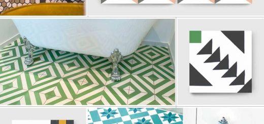 Geometric Tile Designs Elegant Encaustic Cement Tiles with Geometric Cubic or Circular