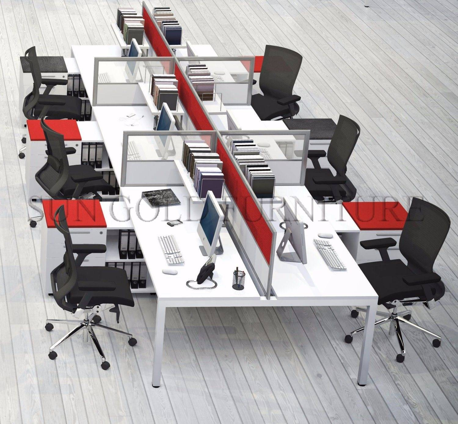 Modern Modular fice Workstation Table 6 Person Dividers fice Cubicle SZ WST841