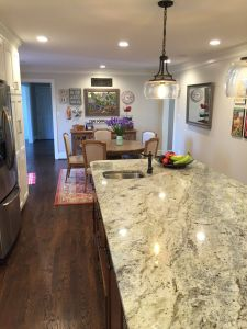 """Granite Countertops White Cabinets New Typhoon Green Granite island is 4 Wide and 10 6"""" Long"""