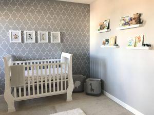 Gray Baby Room Beautiful Gender Neutral Nursery Gray and White Nursery Wall