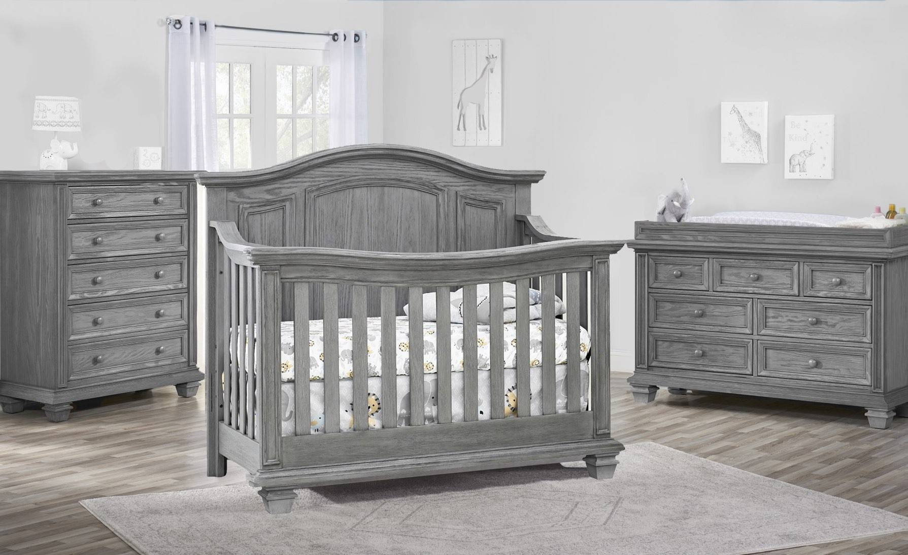 oxford baby cambridge 3 piece nursery set brushed gray room 01
