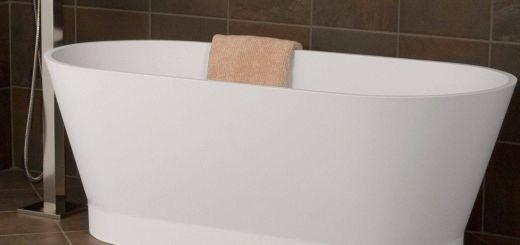 "Gray Freestanding Tub Luxury 59"" Mena Resin Freestanding Tub Matte Finish"