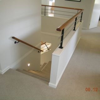 Half Wall Ideas Awesome Half Wall Timber Handrail Stainless Steel Rails and Black